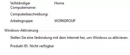 windows nicht aktiviert