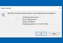 Photo of Bei löschen von Dateien immer vorher fragen bei Windows 10