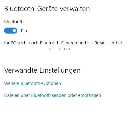 Bluetoot -aktivieren Geräte verwalten