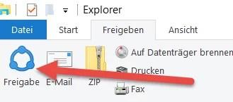 detei freigeben Große Dateien Teilen