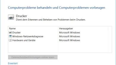 Druckerprobleme beheben bei Windows 10 0