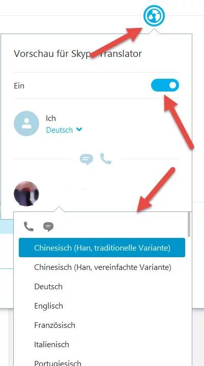 Skype-Translator aktivieren
