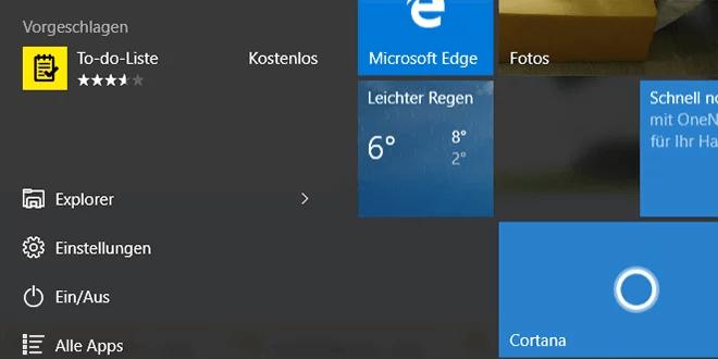 Windows 10 startmenü deaktivieren