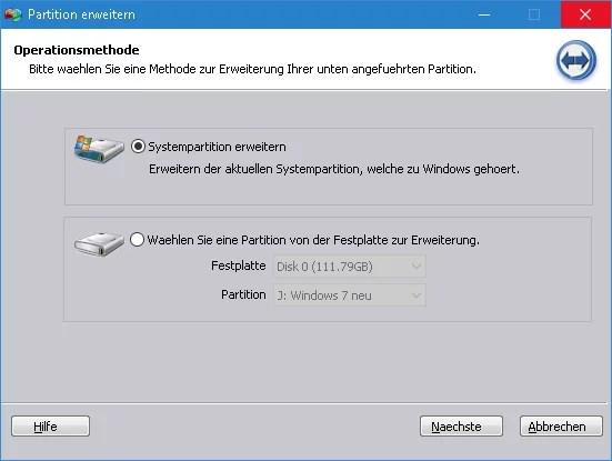 partition-erweitern
