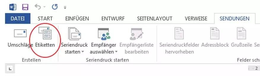 Adressetiketten drucken mit Microsoft Word und Excel- So geht's 0