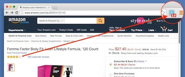 Chrome: ReviewMeta Gefälschte Amazon Kundenbewertungen erkennen 1