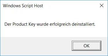 Windows 10 Aktivierung entfernen – Lizenzschlüssel Key deinstallieren 2