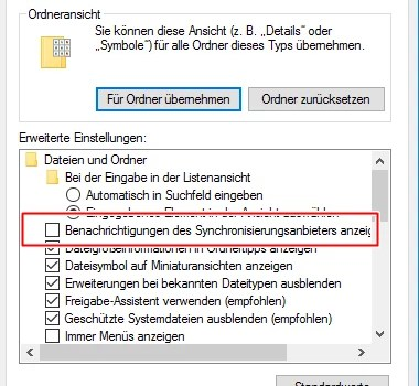 Werbung im Windows Explorer deaktivieren 0