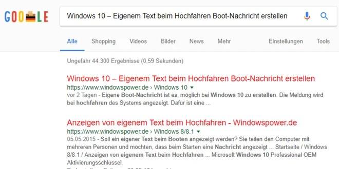 Chrome Browser- andere Farbe für besuchte Links bei Google