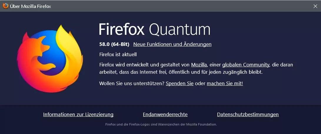 Firefox Version 58 ist erschienen 0