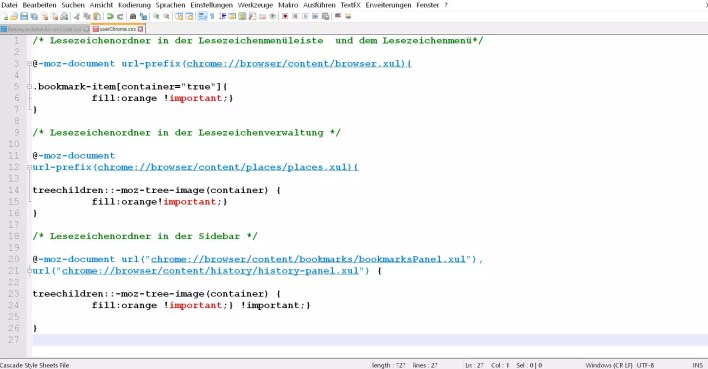code in userchrome.css 1