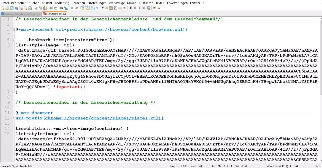 Firefox Den Lesezeichenordnern ein anderes Icon vergeben 4