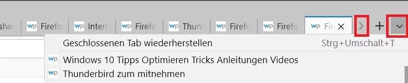Firefox Mehrzeilige Tableiste 0