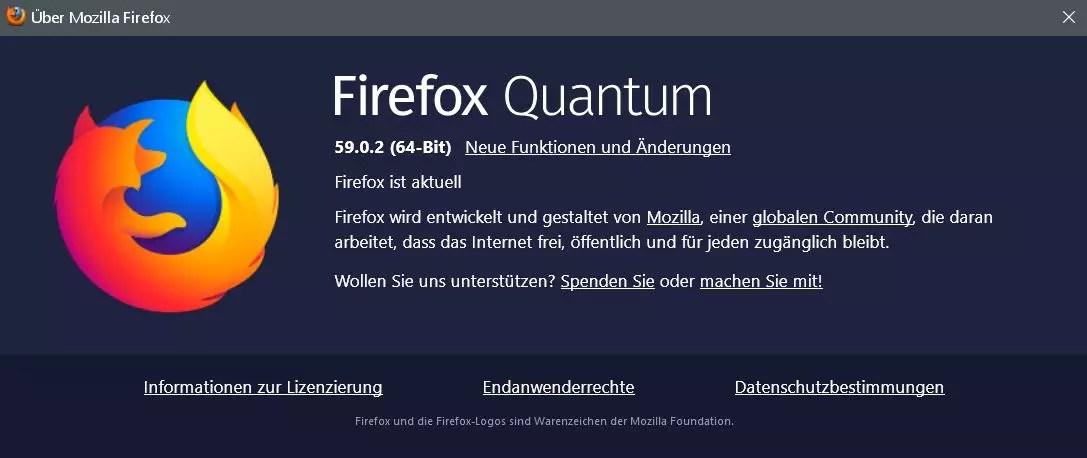 Firefox Version 59.0.2 ist erschienen 0
