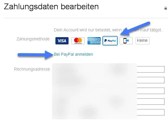App Store PayPal einrichten
