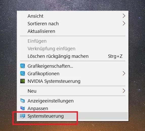 Windows 10 Systemsteuerung ins Kontextmenü hinzufügen 12
