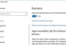 Photo of Windows 10: Apps Zugriff auf die Kamera deaktivieren– So geht's