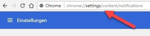 Chrome Einstellungen