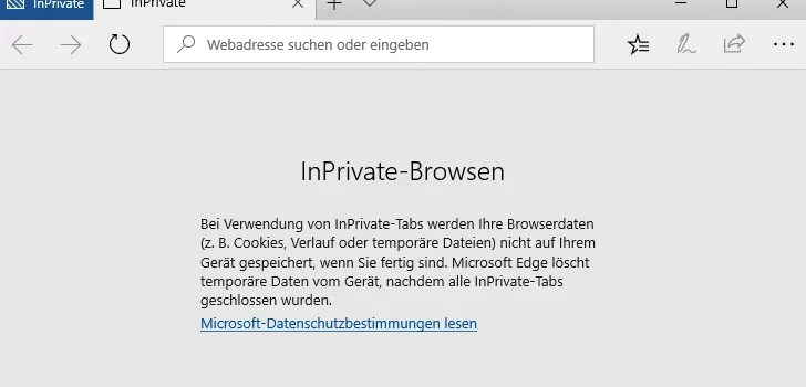 InPrivate-Browsen
