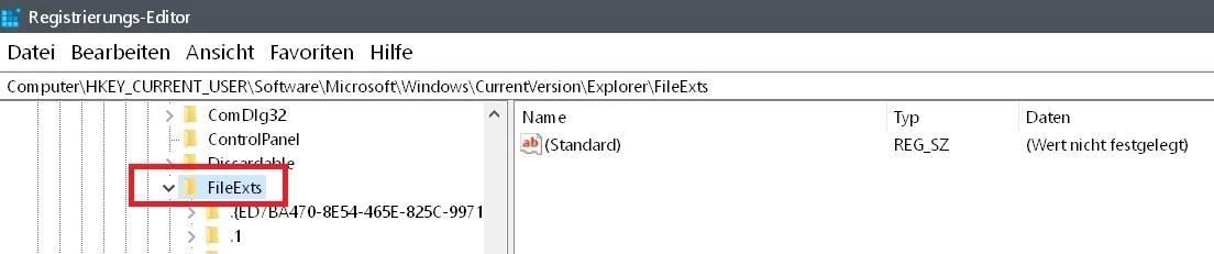 Windows 10 Öffnen mit.. Einträge im Kontextmenü ändern 5