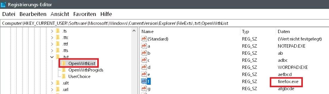Windows 10 Öffnen mit.. Einträge im Kontextmenü ändern 7