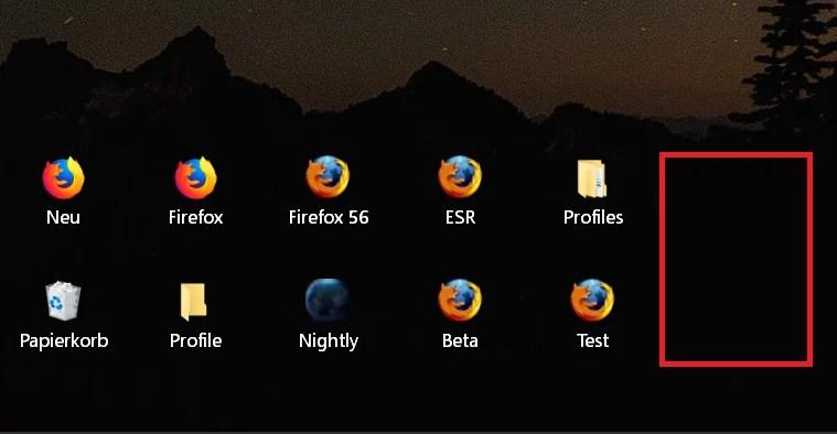Windows 10 Abstand der Icons auf dem Desktop ändern 7