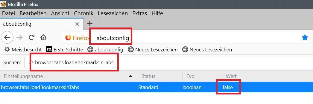 Links in neuem Tab öffnen mit Firefox 1