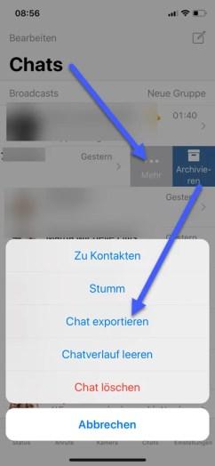 WhatsApp Chat per E-Mail