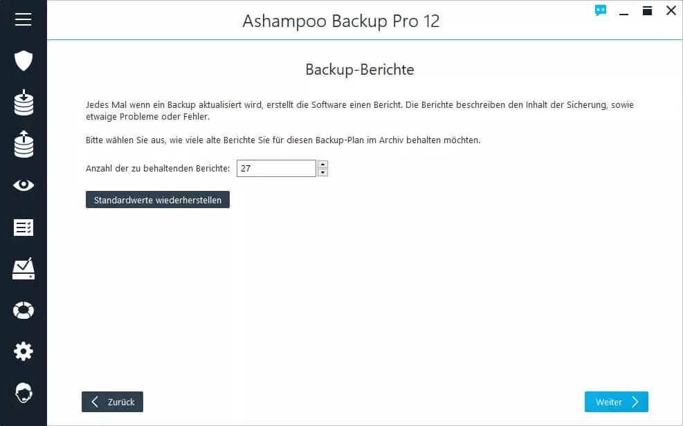 Backup-Berichte