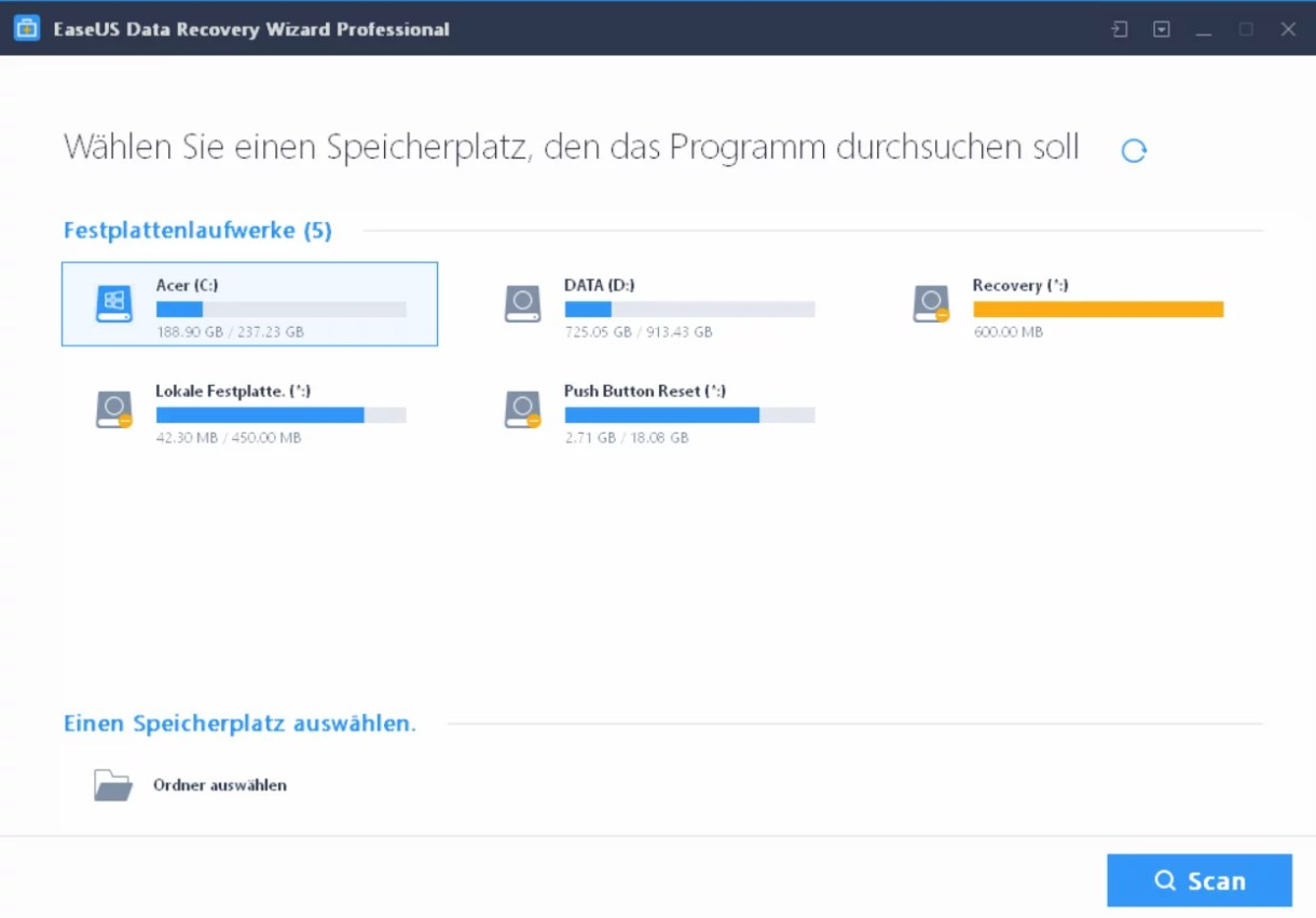 EaseUS Data Recovery Wizard 12.6 ausprobiert – Wir verlosen 5 Lizenzen 0