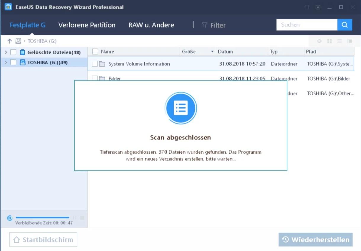 EaseUS Data Recovery Wizard 12.6 ausprobiert – Wir verlosen 5 Lizenzen 6