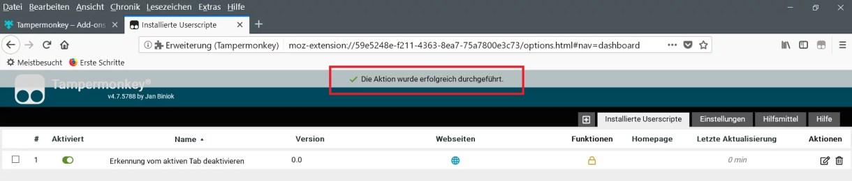 Firefox die Tab Erkennung deaktivieren 6