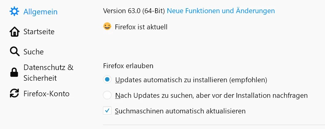 updatefunktion neu