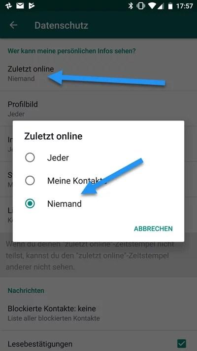 WhatsApp-online status