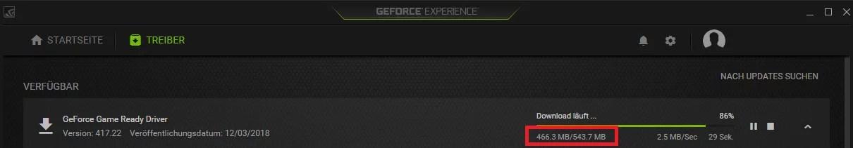 Speicherplatz freigeben nach Nvidia Update mit GeForce® Experience 2