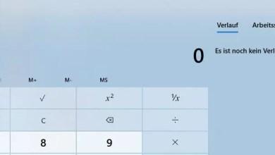 Photo of Umrechnen Dollar in Euro mit Windows 10 Taschenrechner