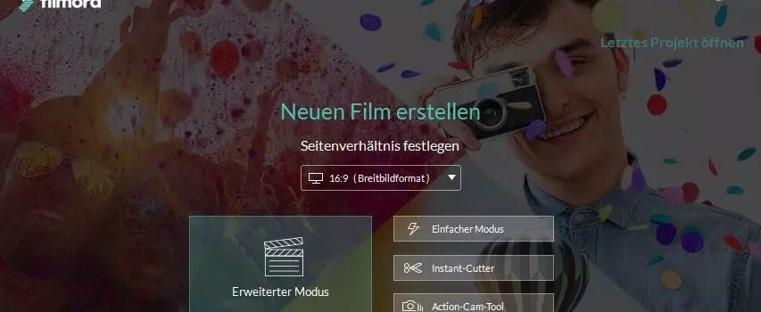 Wondershare Filmora – Videos erstellen ohne Limits 0