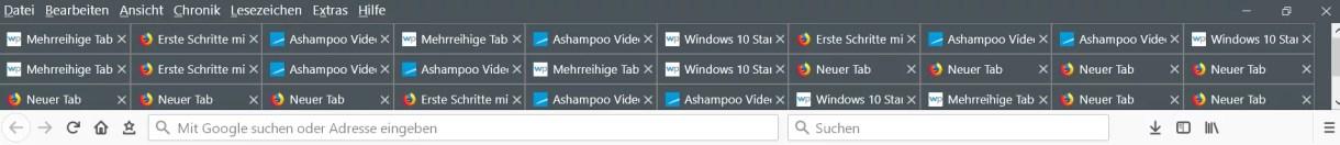 Mehrreihige Tableiste ab Firefox Version 65 1