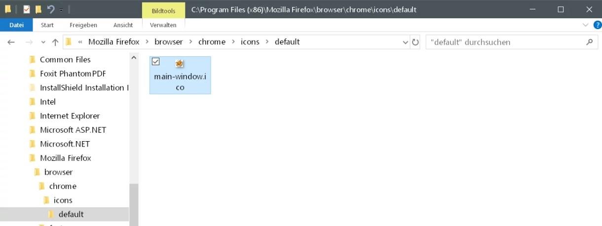 Firefox Icon vom geöffneten Browser ändern 5