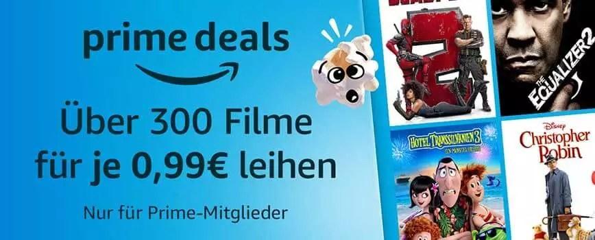 Über 300 Filme für je 0,99€ leihen bei Amazon 0
