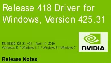 Nvidia-GeForce-Treiber Version 425.31 für Windows erschienen 0