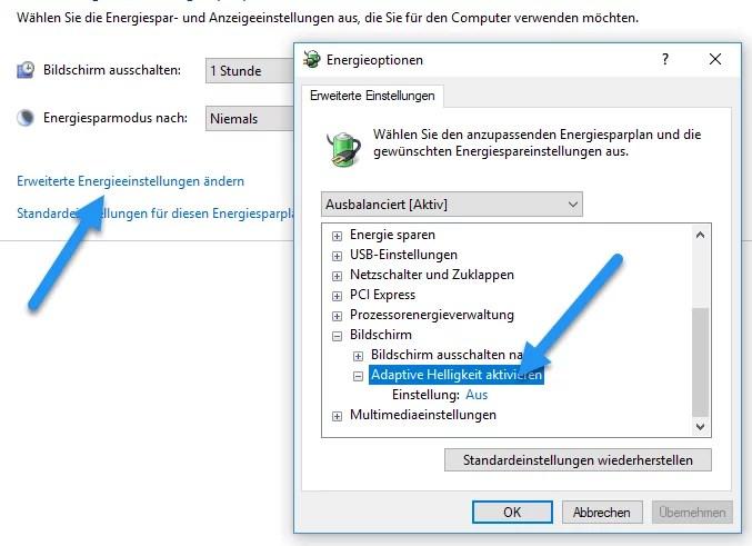Windows 10 Bildschirm immer noch dunkler bei voller Helligkeit 3