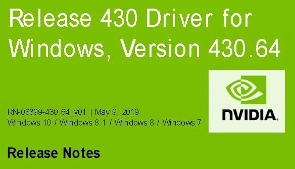Nvidia-GeForce-Treiber Version 430.64 für Windows erschienen 0