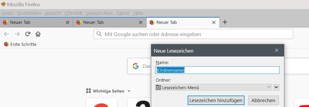 Alle offenen Tabs im Browser zwischendurch mal sichern 3