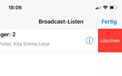 broadcast listen loeschen iphone