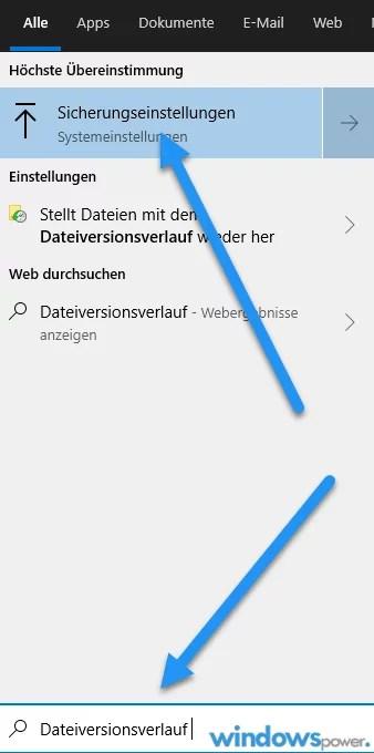 Dateiversionsverlauf