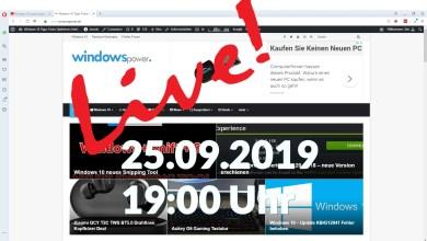 Photo of WindowsPowerDe Live Termin am 25.09 um 19:00