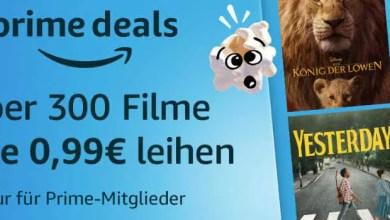 Photo of Prime Deals: Über 300 Filme für je 0,99€ leihen