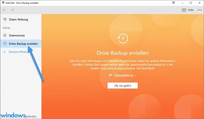 drive backup erstellen