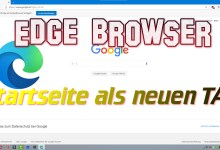 Photo of Microsoft Edge Browser – Startseite als neuen TAB